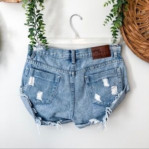 One x One Teaspoon for Free People Bandits Shorts